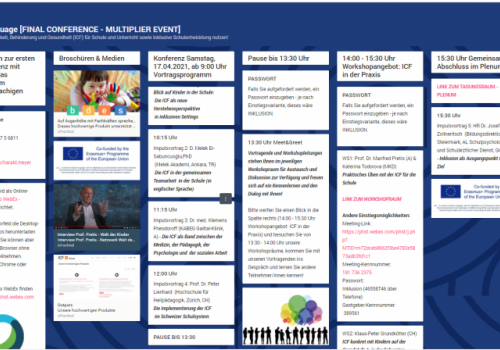 "ICF conference ""ICF @ SCHOOL - A common inclusive language"""